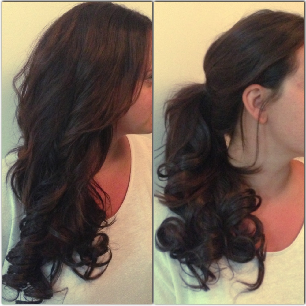 Get the most out of your hair extensions emergingbeautybrands blog high or low a good ponytail will never go out of fashion the emergency curly blow dry kit gives you extra hair to play with to achieve a great ponytail pmusecretfo Image collections